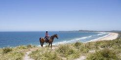 Beach Headland Horse Riding Trek NSW Mid North Coast North Of Sydney Australia