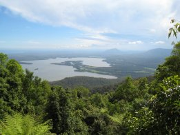View From North Brother Mountain over NSW Mid North Coast Australian Waterways.