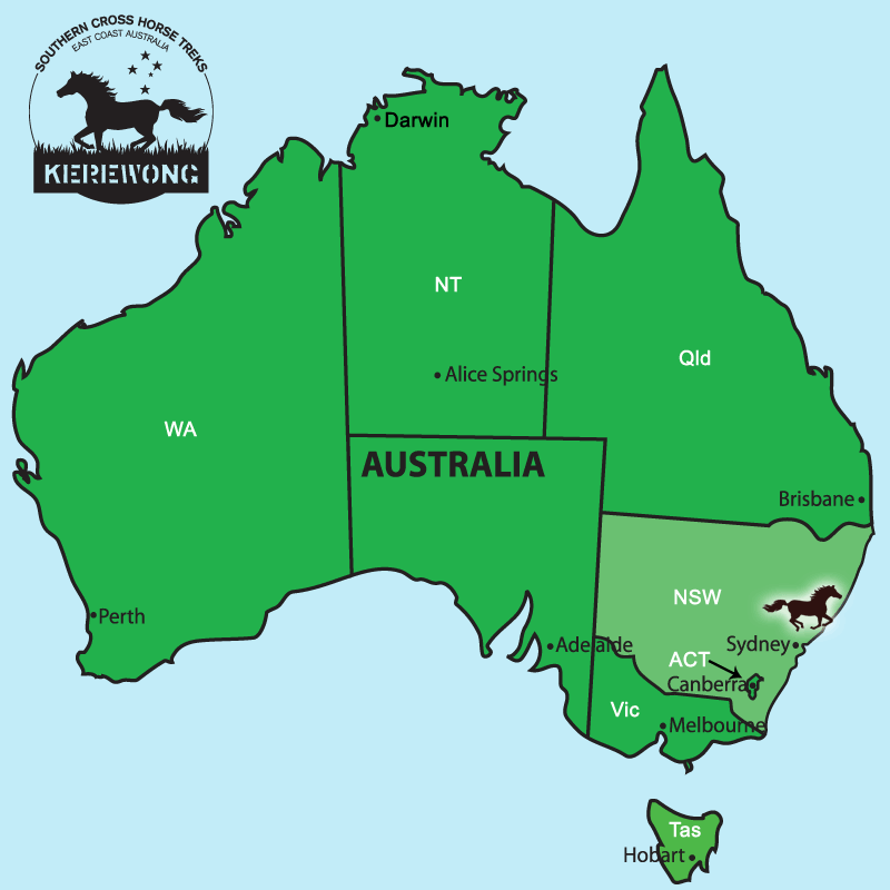 Australia Location Map.Southern Cross Horse Treks Australia Location Map Southern