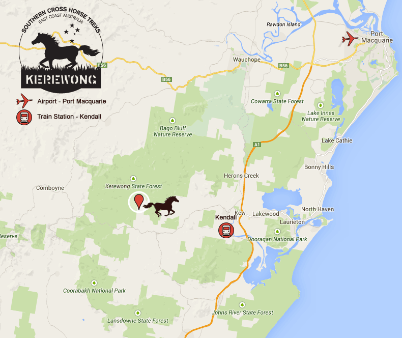Southern Cross Horse Treks Australia Location Map Southern