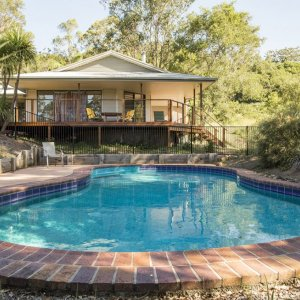 The Australian Lodge Farmstay Accommodation For Horse Riders Overlooks The Swimming Pool