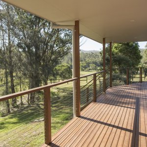 Kerewong Farm House Veranda View Over Horse Property NSW In The Lorne Valley Near Port Macaqaurie