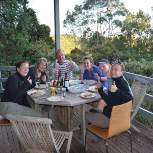 Dinner On Overnight Horse Trek At Comboyne Plateau Cabin Accommodation NSW Australia