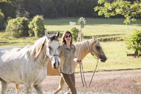 Bringing In The Trekking Horses NSW Australian Horse Riding Holidays