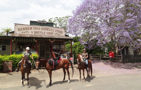 Horse Riders Stop for Lunch At Hannam Vale Store