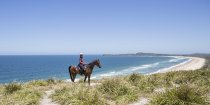 Beach Headland Horse Riding Trek NSW Mid North Coast North Of Sydney Australia